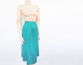 Free Shipping* Green Boho Skirt, UK16, Hippie, 1990s, Long Skirt, Festival Clothing, Wedding, Skirt, Gypsy Skirt, Ladies Clothing