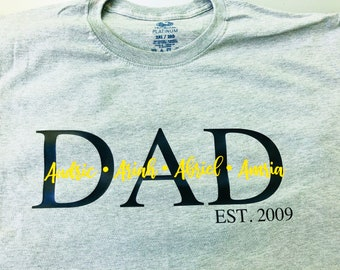 Customized Dad Shirt  Father's Day shirt  Gifts for dads 