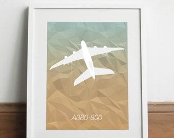 Airbus A380-800 Aircraft - Art print