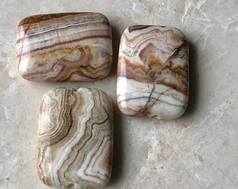 Crazy Lace Agate Rectangle Pendant Beads (3)