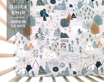 Crib Sheet Max's Map. Fitted Crib Sheet. Baby Bedding. Crib Bedding. Crib Sheets. Woodland Crib Sheet. Adventure Nursery.