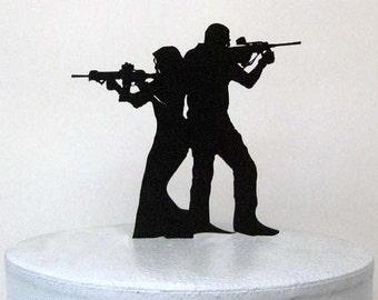 Etsy Listing  Wedding Cake Topper Rifle Gun Wedding