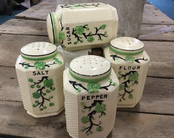 Japanese 4 Piece Canister Shaker Set