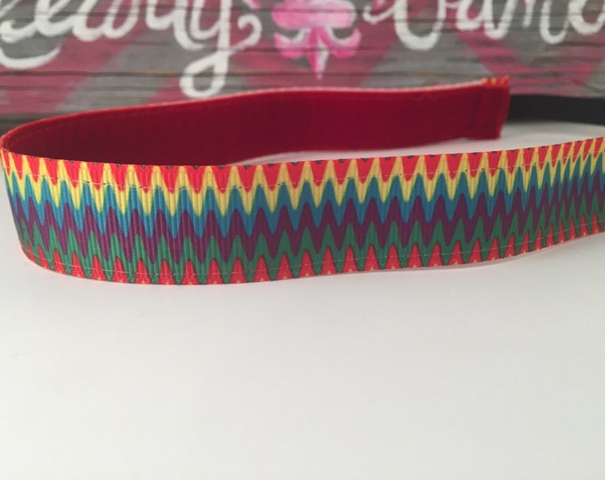 Nonslip Headband Rainbow Ziggy