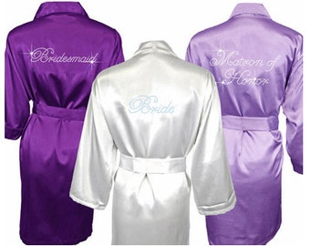 Set of 10 custom bridesmaid robes - includes personalization!