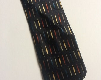 Vintage Clothing Retro Mens Hesketn & Turner London Silk Tie Black