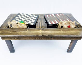 backgammon game board wood table outdoor patio garden. Black Bedroom Furniture Sets. Home Design Ideas
