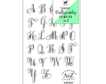Vintage Calligraphy Example kit