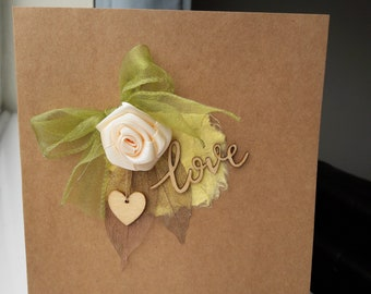 Rustic wedding/Anniversary card. Birthday card. Greeting card, suitable for numerous occasions.