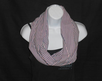 Red, White and Blue Stripe Infinity Scarf