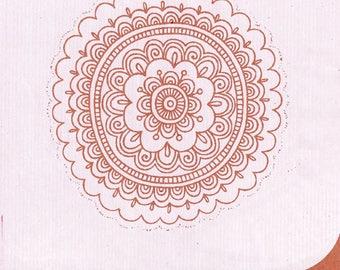 Hand printed silkscreen on paper