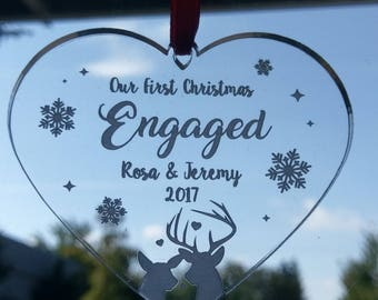 Our first Christmas ornament, Personalized, Our first Christmas, Wedding ornament, Newlywed ornament-ornament, Mr and Mrs ornament, Holiday
