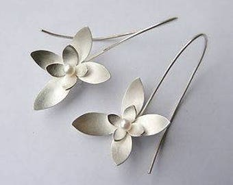 Sterling Silver Earrings- A lovely Floral creation