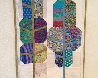 Modern Patchwork Tree Wall Hanging