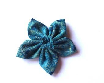 Design Australian blue from Leesa Chandler 100% cotton fabric kanzashi flower