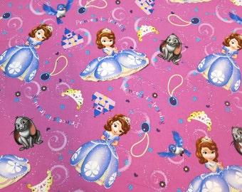 "1/2 yard of 100% cotton ""Sofia princess"" Fabric"
