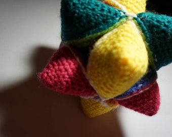 Crochet Amish Puzzle Ball Baby Toy