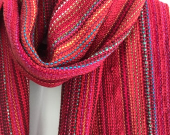 Passionate Hand woven striped scarf