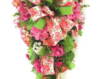 Spring Swag For Front Door, Spring Swags For Front Door, Spring Swags For  Doors, Spring Swags And Wreaths, Summer Swag For Front Door, Swags