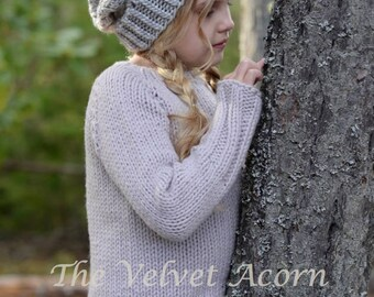 KNITTING PATTERN-The Tern Sweater (2/3, 4/5, 6/7, 8/9, 10/12, 14/16, adult Small, adult Medium, adult Large and adult X-Large sizes)