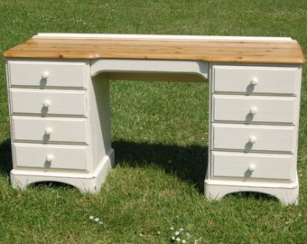 Ducal Solid Pine Shabby Chic 9 Drawer Office Study Desk