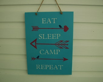 Camping Sign, Hang inside or out on your camper,(G100)