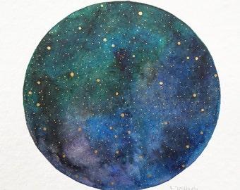"""original painting """"starry sky"""""""