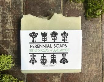 French Clay & Bergamot Soap - Bergamot and Lime Soap - Vegan Soap - Palm Oil Free