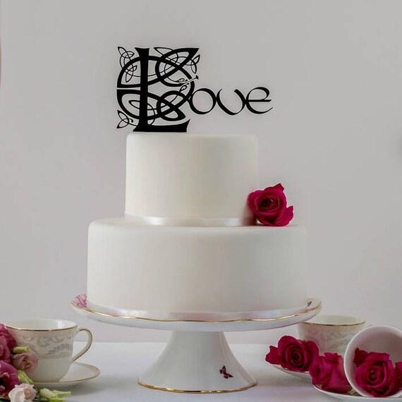 Celtic Love Wedding Cake Topper Love Cake Topper Celtic