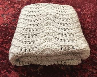 Neutral Crocheted Blanket