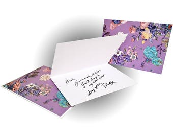 Bouquet Greeting Card - Purple/Multi