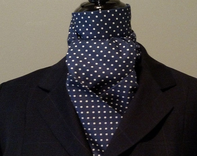 Navy and white Stock Tie