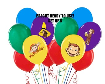 Curious George Stickers Decorations Self Adheshive Party Favor Balloon Decals