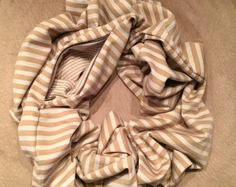 The Traveling Scarf - Striped Camel (Short)