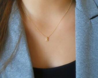 Delicate Gold Letter Necklace; Personalized Gold Necklace; Initial Gold Necklace; Letter Necklace; Everyday Initial Necklace
