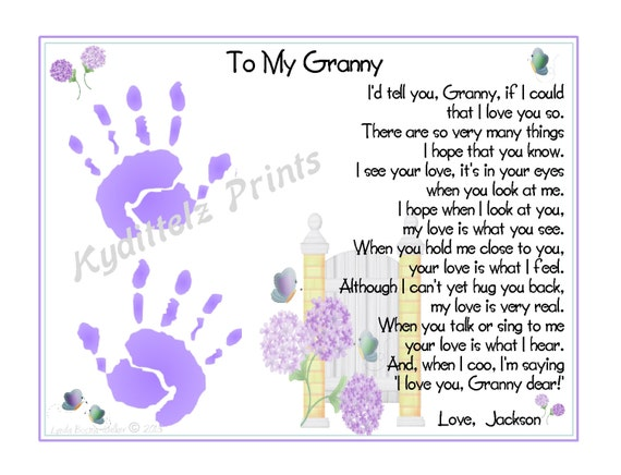 I D Tell You If I Could Grandma Baby S 1st Handprints