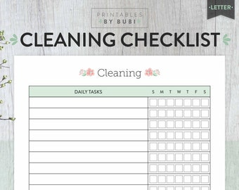 Cleaning Checklist, Cleaning Schedule, Cleaning Planner, Printable Planner, Instant Download, Mom Family Cleaning Checklist