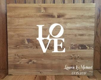 Wedding Guestbook//Alternative Guestbook//Wood Guestbook//Rustic Wedding//20x24