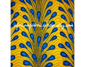 African fabric per yard //Yellow Electric bulbAnkara Fabric, Fabric Wholesale , African print fabric , Ankara Fabric, Ankara clothing