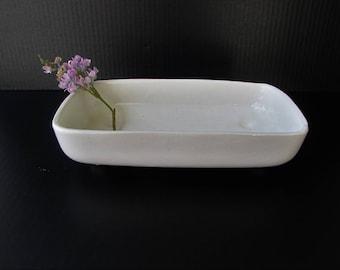 Vintage Mid Century Modern Matte White Ceramic Planter - UPCO USA - White Ceramic Planter - Succulent Planter - Vintage Planter