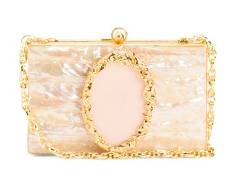 Mother of pearl , Wedding clutch, Pearl Clutch, Evening Clutch, Clutch, Bridal Clutch, Box Clutch, Prom, Gifts for her, Mother's day gift