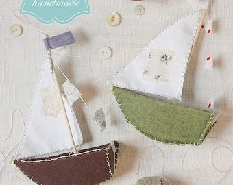 little felt boats : a sewing pattern