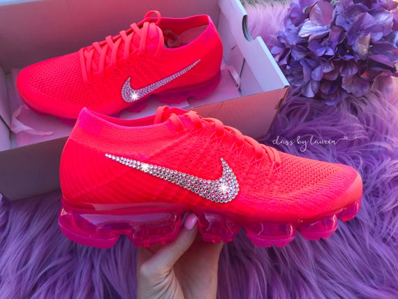 ... swarovski hot pink nike air vapormax flyknit shoes 07bedddf5