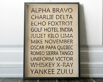 wall art for the office. Phonetic Alphabet Print, Wall Art Prints, Office Art, Minimalist For The E