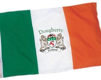 Dougherty Irish Coat of Arms Ireland Flag - 3'x5' foot