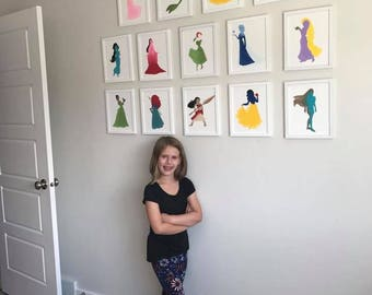 8x10 - Princess Edition - Hand Painted Canvas Art