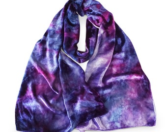 Purple velvet scarf, purple scarf, blue scarf, blue velvet scarf, trending now,  velvet scarves, hot selling items, womens scarves, gift