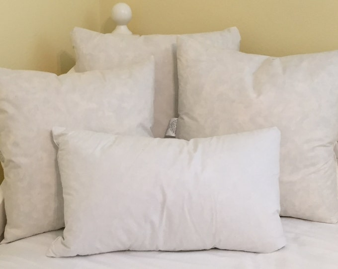 Outdoor Pillow Inserts - Square, Lumbar, Euro and Bolster Sizes