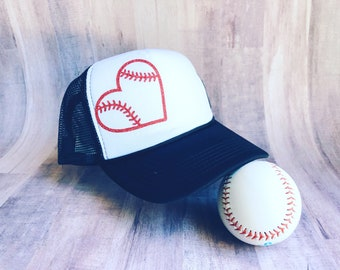 Trucker hat, baseball mom trucker hat, baseball mom hat, softball mom hat, baseball life, mom life, softball mom, baseball mom