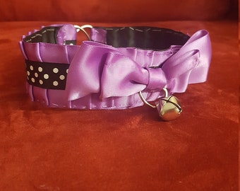 BDSM/DDLG/PETPLAY Lilac Pleated Collar